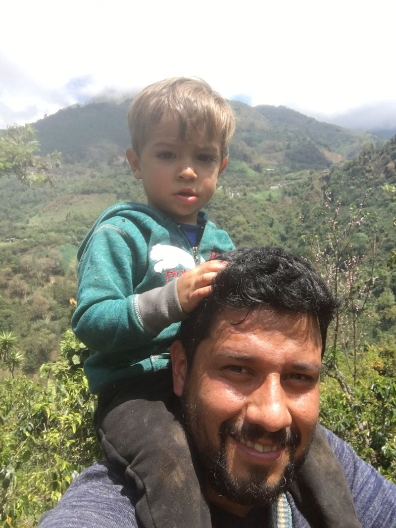 father and son at the coffee farm