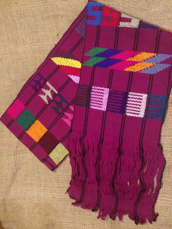 guatemalan weaving table runner