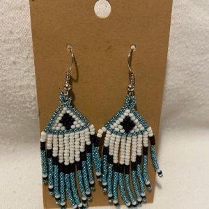 Beaded Pendant Earrings – small