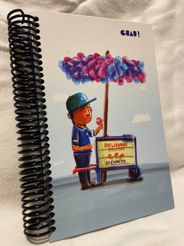 ice cream vendor notebook