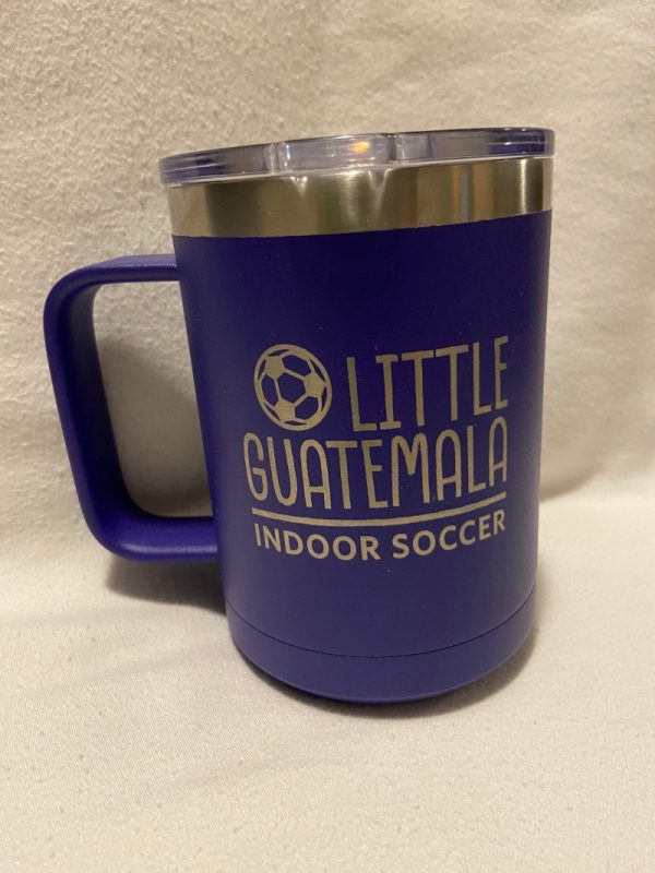 insulated coffee mug purple
